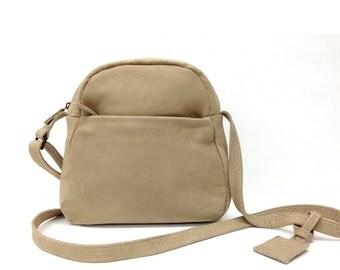 Sale!!! Small leather bag Crossbody Purse bag handmade zippered distressed leather crossbody by Limor Galili