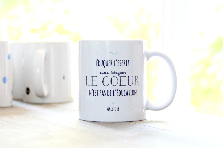 mug citation aristote education coeur merci pour par somug. Black Bedroom Furniture Sets. Home Design Ideas