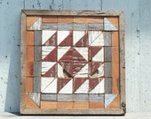 Rustic wall art, salvaged barnboards quilt, barn quilt