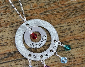 Mommy Necklace, Mother Necklace, Mom Necklace, Birthstone Necklace, mom gift, Mother's Day