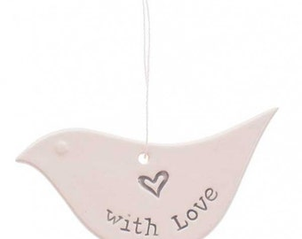 With Love Ceramic Dove