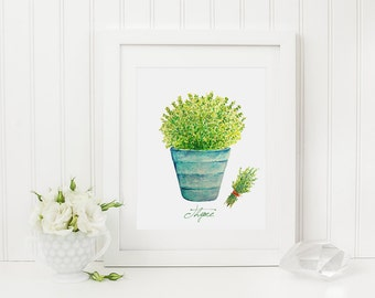 Thyme herb print - 8 x 10 Printable File