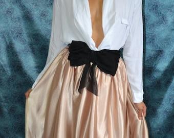 Custom made 'June' satin pleated full skirt fashionista separates