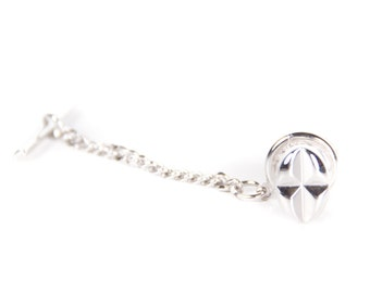 Vintage Silver Tie Pin / Mens Tie Pin / Mens Jewelry / Classic Tie Pin / Cool Mens Gift / Unique Tie Pin / Old Tie Clip / Clean Tie Clip
