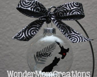 New Zealand Christmas Ornament; New Zealand Home Love Ornament