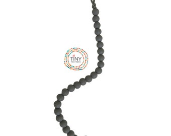 Silicone Pacifier Clip Grey - Silicone Teething Beads
