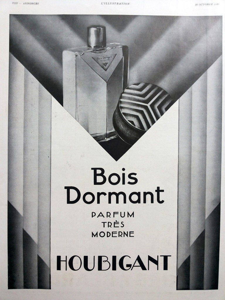 bois dormant par houbigant parfums pub art d co originale. Black Bedroom Furniture Sets. Home Design Ideas