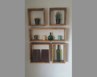 Square and Rectangular Shelf Set