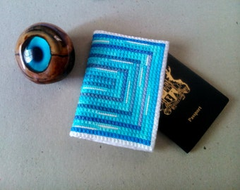 Made to ORDER: Blue marlin passport case hand embroidered, Stylish document cover, Passport Holder, Embroidered case, Passport wear