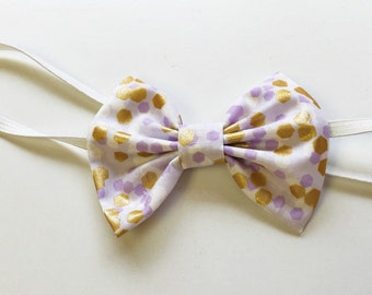 Lavender & Gold bow