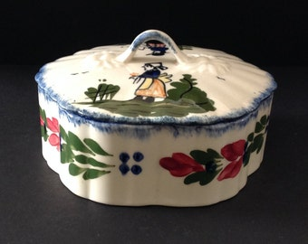 Blue Ridge French Peasant Colonial Candy Dish