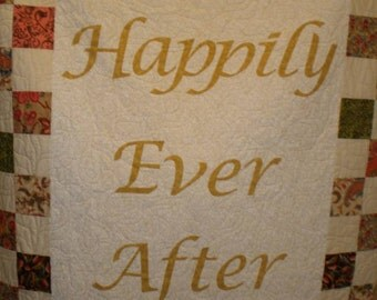 Happily Ever  After Wedding Quilt Quiltsy Handmade