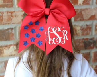 Monogrammed 4th of July Hairbow