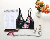 Longline Bralette Sewing Pattern Ohhh Lulu 1404 Cropped Cami PDF Instant Download Pattern