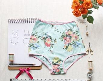 High Waist Panties Sewing Pattern Vintage Style Pin Up Ohh Lulu 1316 Ava Panties PDF Instant Download