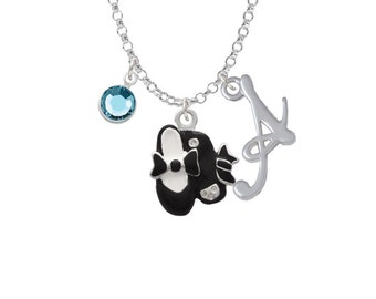 Tap Shoes Charm Necklace - Personalized Initial Jewelry with Crystal - Dance Jewelry, NC-Channel-C1566-SmGelato-F2301