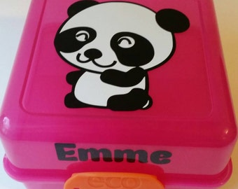 Personalized Lunch Box - Panda