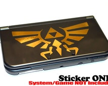 Gold Triforce Hyrule Crest Legend of Zelda Decal Stickers 3DS 3DS XL