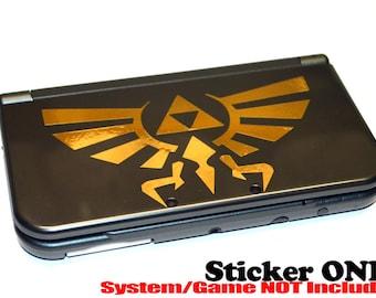 Gold Triforce Hyrule Crest Legend of Zelda Decal Stickers 3DS 3DS XL
