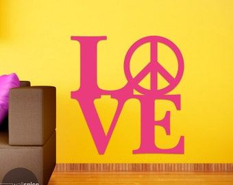 Love Peace Sign Symbol Vinyl Wall Decal Sticker