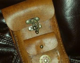 Steampunk cellphone pouch