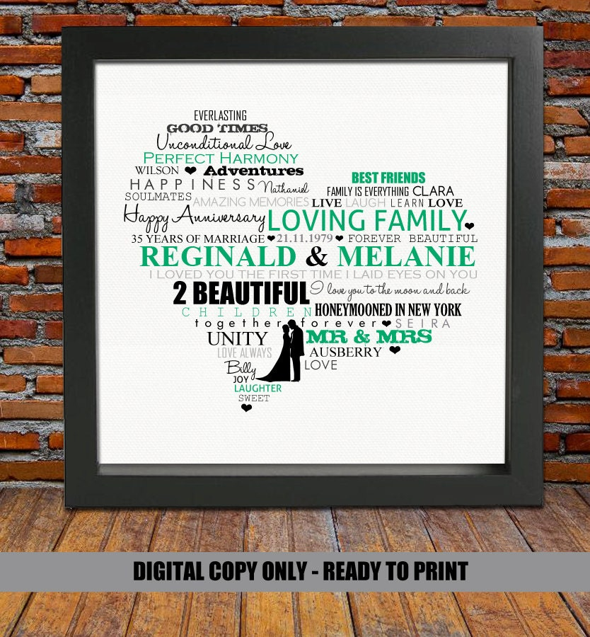 35th Wedding Anniversary Gift Ideas For Parents: 35th ANNIVERSARY GIFT 35th Anniversary 35 Years