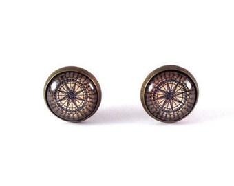 "Stud Earrings ""Compass"""