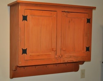 Early American Hanging Wall Cupboard