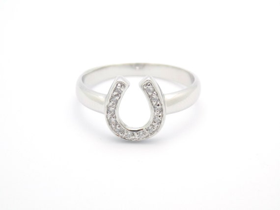 horseshoe ring lucky ring jewelry silver ring