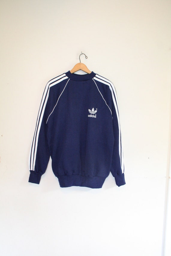 classic adidas pullover size large 80s trefoil. Black Bedroom Furniture Sets. Home Design Ideas