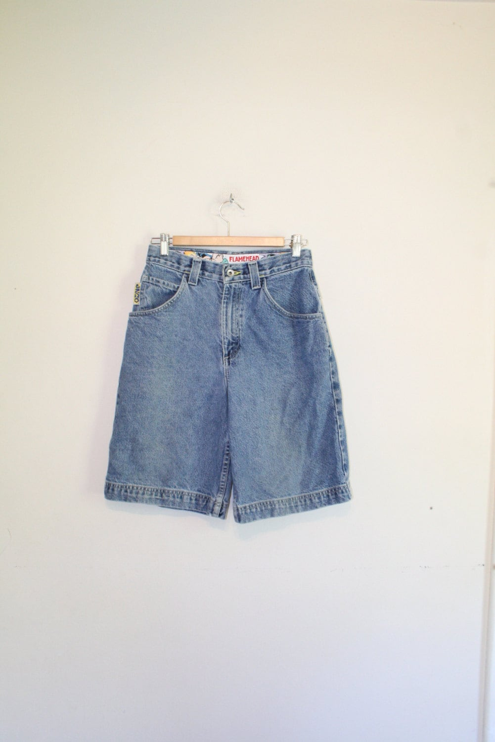 JNCO JEAN SHORTS // size small // 28 waist // 90s // by GUTTERSHOP