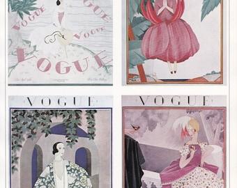 Vogue Magazine Cover 1924 art deco art nouveau home decor print fine art fashion vintage 8.5 x 11.5 inches