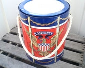 Vintage 1967 Prestige Product Liberty Eagle Metal Drum Bucket / Ice Bucket / Container / Flower Herb Pot / Paint Can Style Bucket / Decor