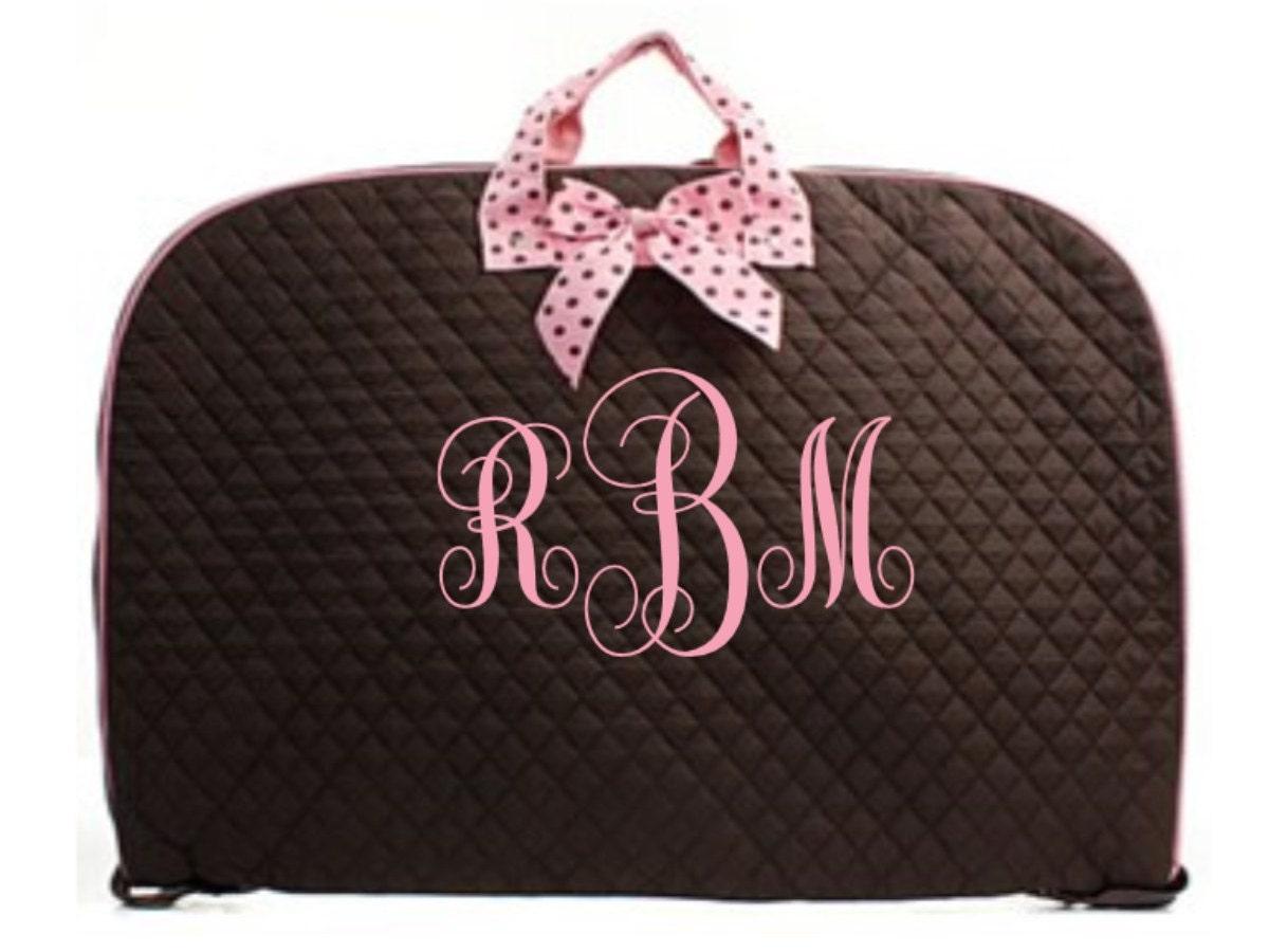 Monogrammed Ladies Garment Bag Vinyl Letters