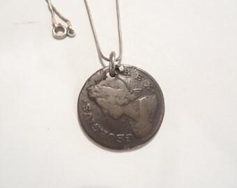 1738 Great Britain Britannia Colonial Coin Pendant / Necklace
