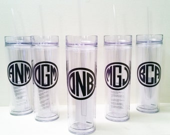 Monogrammed Groomsman Tumblers, Best Man, Groomsmen and Ring Bearer Acrylic Tumblers, Bridal Party Tumbler Gifts, Groomsmen Gifts