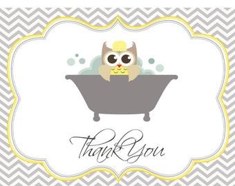 Owl Shower Thank You Card DIGITAL