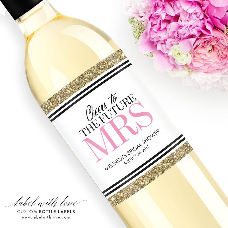 Custom Bridal Shower Wine Labels Personalized Bachelorette