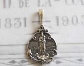 Medal - Notre Dame de la Garde - Sterling Silver - 19x25mm