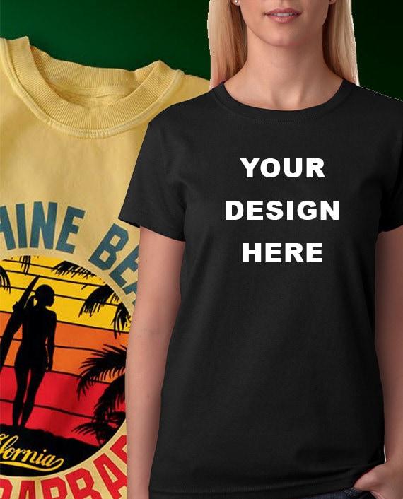 Women 39 s custom t shirt printing no minimums by prnnt on etsy for No minimum t shirt printing