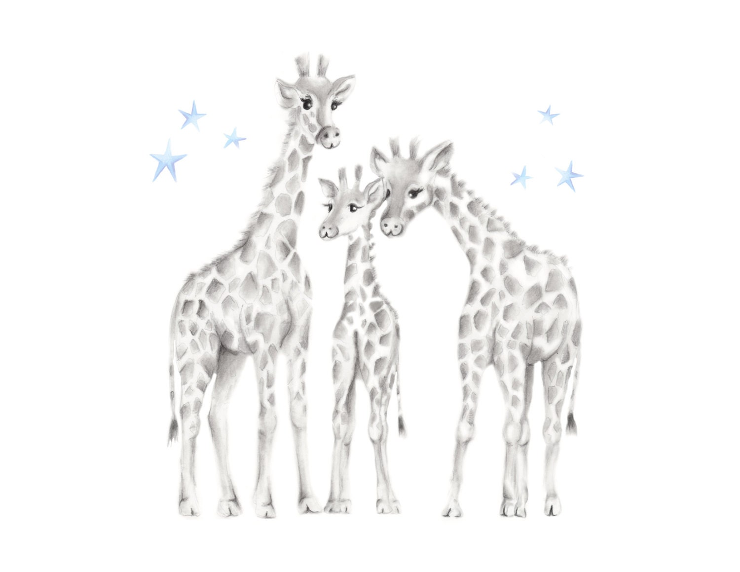 Giraffe Nursery Art Safari Nursery Family Jungle Animal