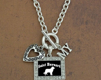 Heart My Saint Bernard Necklace