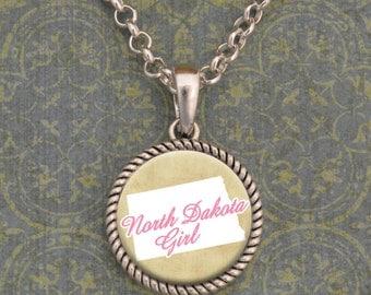 North Dakota Girl Necklace - SOY56066ND