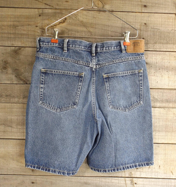 b1dd15f1df7 Vintage Blue Jean Denim Shorts Men s Size 34 Route 66