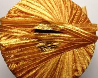 Grignasco Shiny nylon ribbon super bulky weight yarn (973 pumpkin)