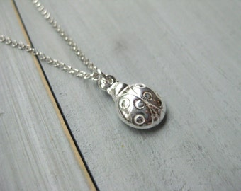 Ladybug Necklace Sterling Silver Girls Jewelry Teen Necklace Tween Necklace Tween Jewelry Birthday Gift Ladybug Jewelry Silver Ladybug