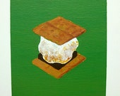 "Have S'more (original acrylic painting) 5"" x 7"" by Mike Kraus"