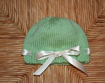 Hand Knit Easter Hat for Baby / Toddler Hat / Knit Hat / Knit Baby Beanie
