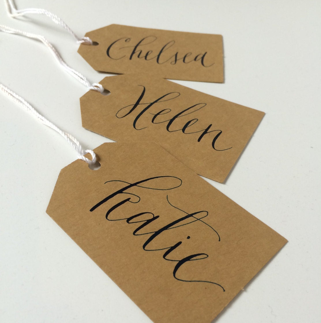Custom Calligraphy Gift Tags For Christmas Name Or Place