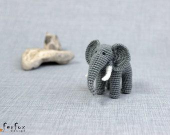 Miniature elephant, crochet realistic elephant, amigurumi animal, little stuffed elephant - Eli the Elephant